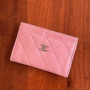 Chanel Classic Wallet Card Holder Lambskin SHW